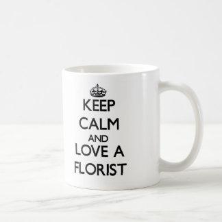 Keep Calm and Love a Florist Classic White Coffee Mug