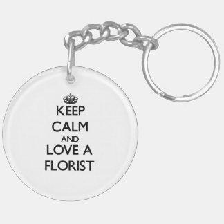 Keep Calm and Love a Florist Keychain