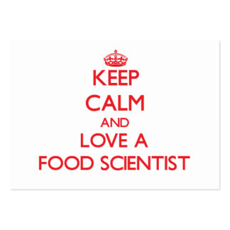 Keep Calm and Love a Food Scientist Business Card Templates