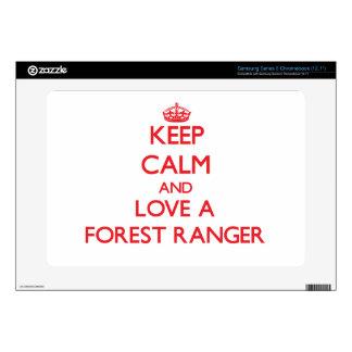 Keep Calm and Love a Forest Ranger Samsung Chromebook Decal