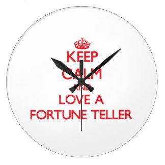 Keep Calm and Love a Fortune Teller Wallclock