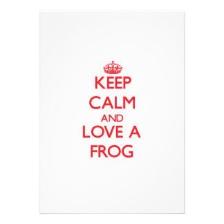 Keep calm and Love a Frog Cards