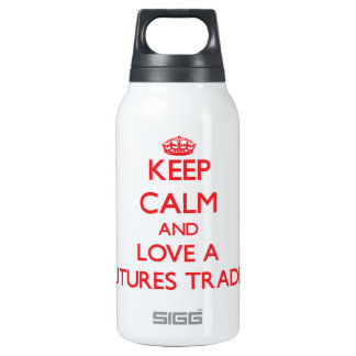 Keep Calm and Love a Futures Trader 10 Oz Insulated SIGG Thermos Water Bottle