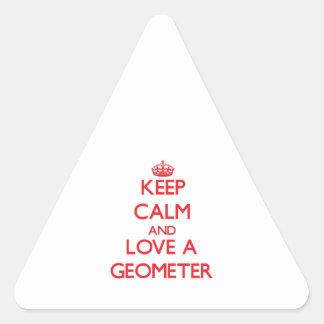 Keep Calm and Love a Geometer Triangle Sticker
