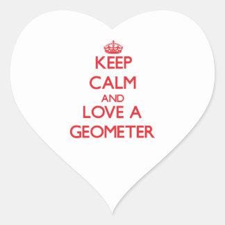 Keep Calm and Love a Geometer Sticker