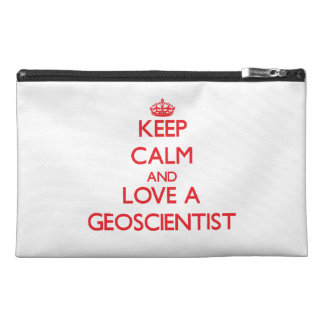 Keep Calm and Love a Geoscientist Travel Accessory Bags