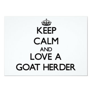 Keep Calm and Love a Goat Herder Invitation