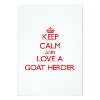 Keep Calm and Love a Goat Herder Personalized Invitations