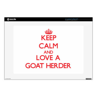 Keep Calm and Love a Goat Herder Decals For Laptops