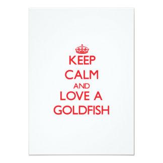 Keep calm and Love a Goldfish 5x7 Paper Invitation Card
