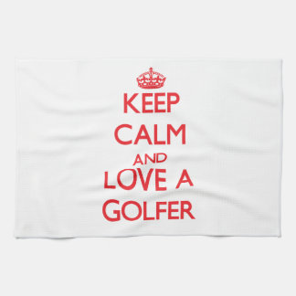 Keep Calm and Love a Golfer Towels
