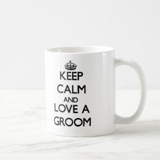 Keep Calm and Love a Groom Classic White Coffee Mug