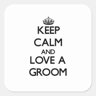 Keep Calm and Love a Groom Sticker