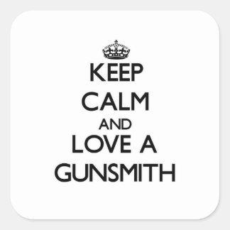 Keep Calm and Love a Gunsmith Square Sticker