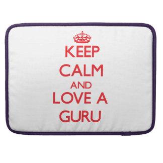 Keep Calm and Love a Guru MacBook Pro Sleeves