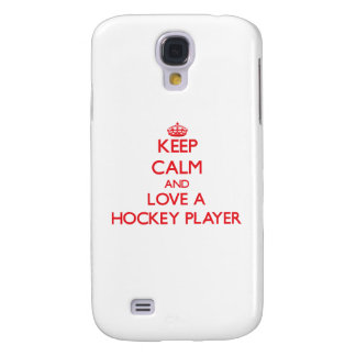 Keep Calm and Love a Hockey Player Galaxy S4 Case