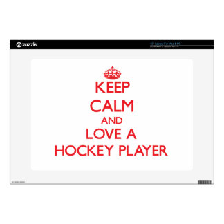 Keep Calm and Love a Hockey Player Decal For Laptop