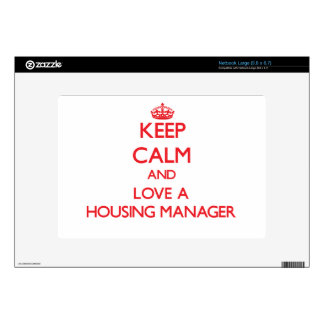 Keep Calm and Love a Housing Manager Netbook Decals