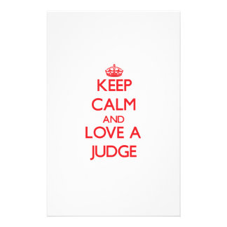 Keep Calm and Love a Judge Stationery Paper
