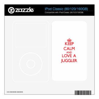 Keep Calm and Love a Juggler iPod Decal