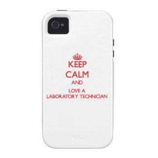 Keep Calm and Love a Laboratory Technician iPhone 4 Case
