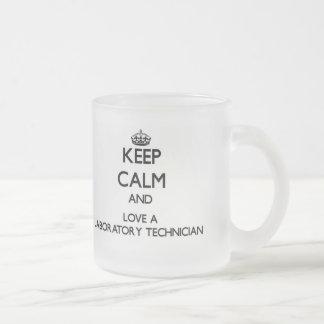 Keep Calm and Love a Laboratory Technician Mug