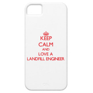 Keep Calm and Love a Landfill Engineer iPhone 5 Cover