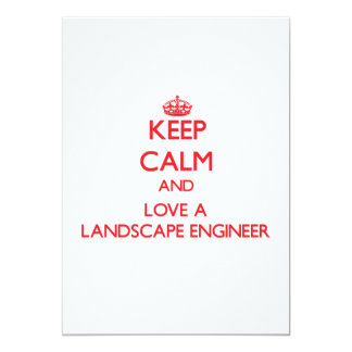 Keep Calm and Love a Landscape Engineer Cards