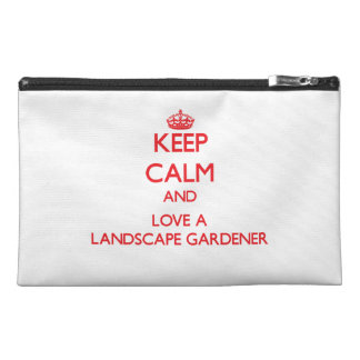 Keep Calm and Love a Landscape Gardener Travel Accessories Bags