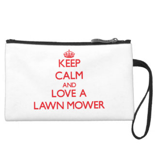 Keep Calm and Love a Lawn Mower Wristlet Clutches