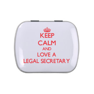 Keep Calm and Love a Legal Secretary Jelly Belly Candy Tins