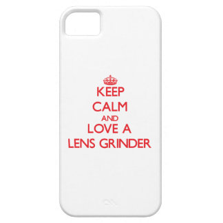 Keep Calm and Love a Lens Grinder iPhone 5 Cover
