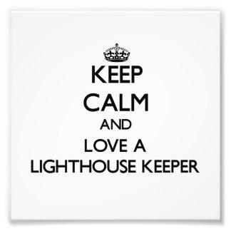 Keep Calm and Love a Lighthouse Keeper Photo Print