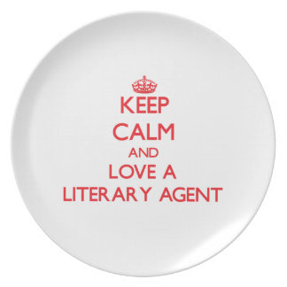 Keep Calm and Love a Literary Agent Plate