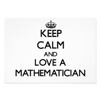 Keep Calm and Love a Maamatician Personalized Announcements