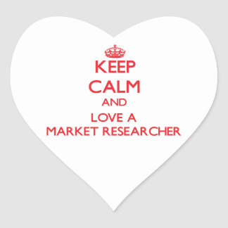 Keep Calm and Love a Market Researcher Sticker