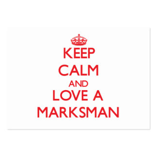 Keep Calm and Love a Marksman Business Card Template