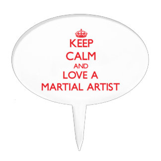 Keep Calm and Love a Martial Artist Cake Toppers