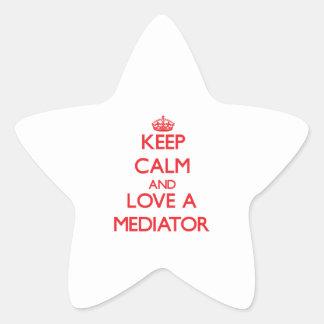 Keep Calm and Love a Mediator Star Sticker
