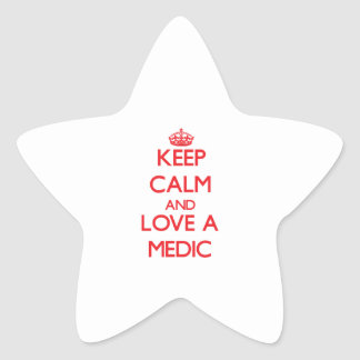 Keep Calm and Love a Medic Star Stickers