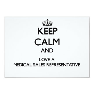 Keep Calm and Love a Medical Sales Representative Invite