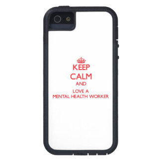 Keep Calm and Love a Mental Health Worker iPhone 5/5S Cover