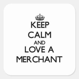 Keep Calm and Love a Merchant Square Sticker