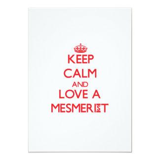"Keep Calm and Love a Mesmerist 5"" X 7"" Invitation Card"
