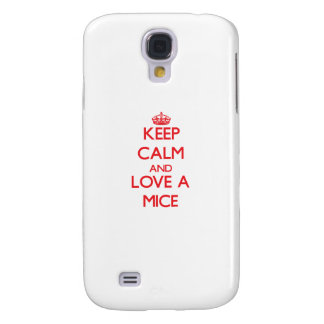 Keep calm and Love a Mice Samsung Galaxy S4 Cover