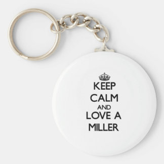 Keep Calm and Love a Miller Keychain