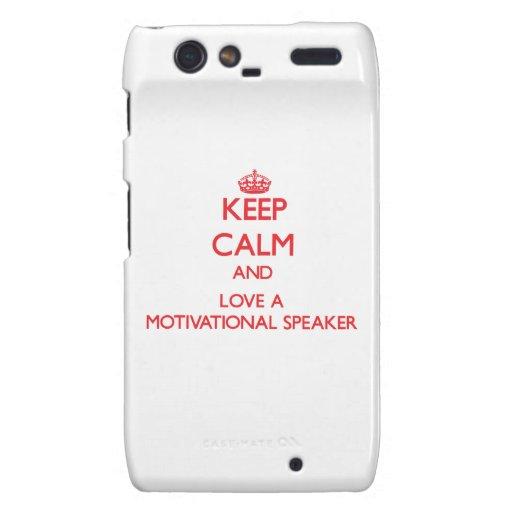 Keep Calm and Love a Motivational Speaker Motorola Droid RAZR Cover