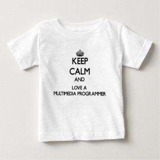 Keep Calm and Love a Multimedia Programmer T-shirt