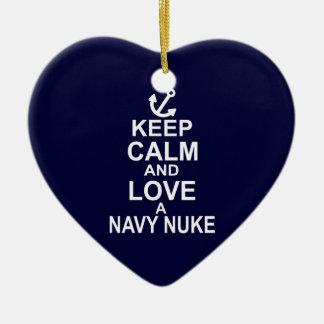 Keep Calm and Love a Navy Nuke Ornaments