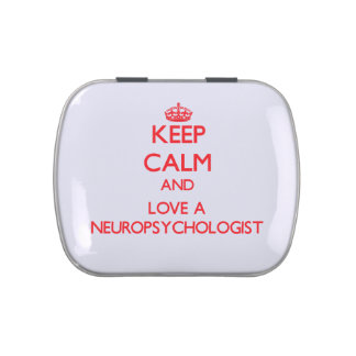Keep Calm and Love a Neuropsychologist Jelly Belly Candy Tin